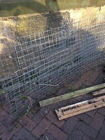 Galvanised metal fencing
