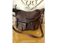 a28505a358f Fat face chocolate leather bag REDUCED