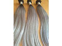 Grey/black Virgin Remy Human hair Extension ,Brazilian /Peruvian/ Cambodian /straight /bodywavy