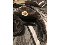 Gray Russian nanushka hat