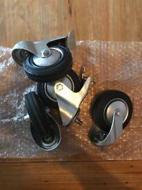 Set of 4 industrial castor wheels