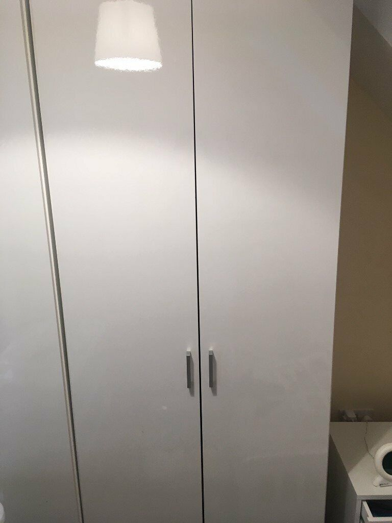 uk availability 19040 92a9d Homebase white gloss double wardrobe | in West Byfleet, Surrey | Gumtree