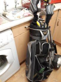 Golf club and trolly bag