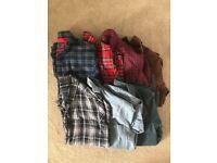 7 x men's designer shirts - Small