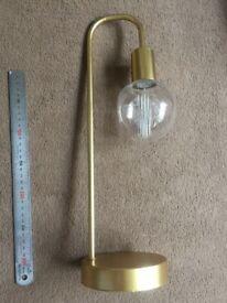 Portable bedside mood light Golden matt finish, Codeless lamp