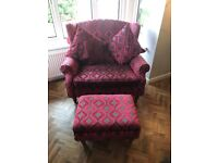 Petite Sofa x2 from Next and matching footstool