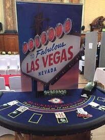 Casino hired for parties / weddings / charity night package deals with DJ & singer