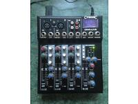 Citronic CM4-LIVE 4-Ch Mixer with Effects & USB/SD Player - Ideal for solo artist / karaoke