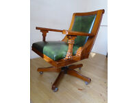 Fab Quality Leather Office Desk swivel Captain's Chair