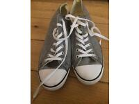 Grey converse all star, worn once size 10