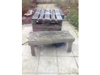 Garden table made from pallets, FREE