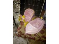 baby born speed boat and princess carriage