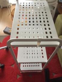 A white Ikea shelf