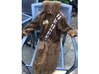 Star Wars chewbacca onesie 8-9 yoa