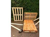 3 wooden pallets