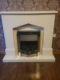 Complete electric fireplace