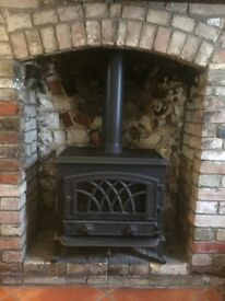 Munroe 7 multi fuel stove. Used as a display for 5 years.