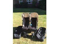 Hauck Roadster Duo SLX Double Pushchair + 2x Hauck 2 In 1 Carry Cot