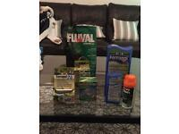 Fish tank plant growth accessories