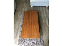 Dwell Two block storage coffee table walnut