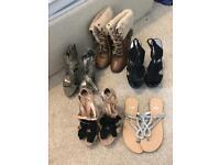 Size 4 women's ladies shoe bundle
