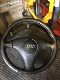 Audi A4 b6 leather steering wheel