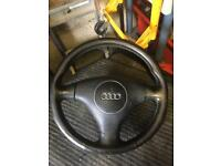 Audi A4 b6 leather steering wheel