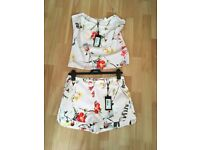 Ted baker cami and shorts set size 1