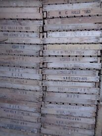 50 Vintage Wooden Rustic Potato Chitting Trays Crates Boxes Storage Shabby Chic