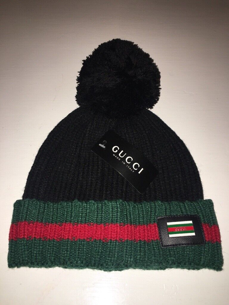 Ladies Gucci bobble hat with box and bag.  58c4c6d6a71