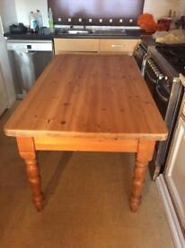 Beautiful solid old handmade farmhouse table