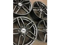 18 inch DRC alloy wheels in Gunmetal 5x112 to fit VW golf Audi A3