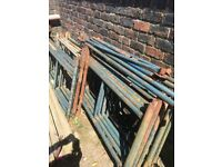 Some bed end steel scaffolding for sale