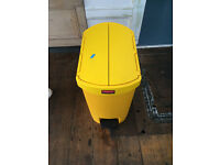 Yellow Step on Pedal Bin Yellow 30 Ltr