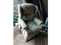 Sherbourne lift and rise recliner chair with separate armchair