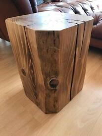 2 X Solid wood block coffee tables/ side tables