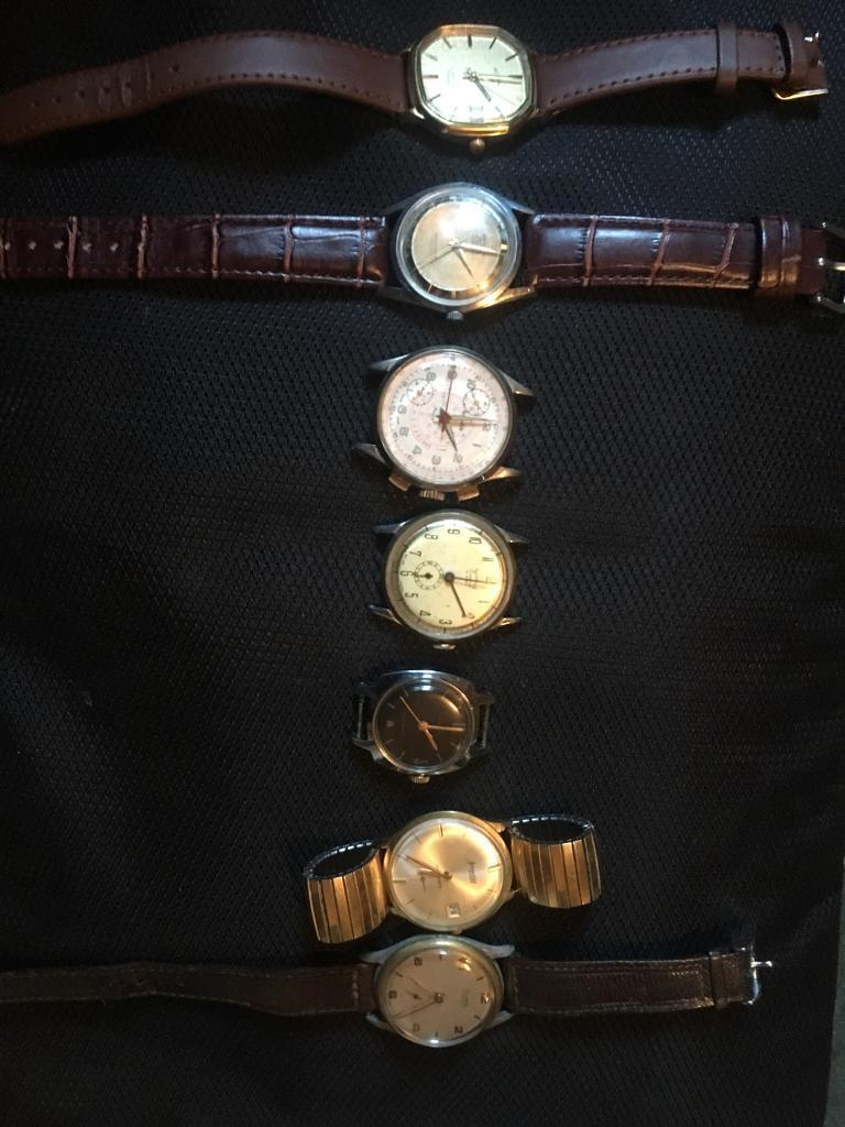 Vintage swiss watches and chronograph