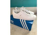 Leather white adidas gazelles brand new size 5.1/2