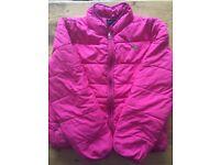 Girls age 8-10 Ralph Lauren pink bomer coat