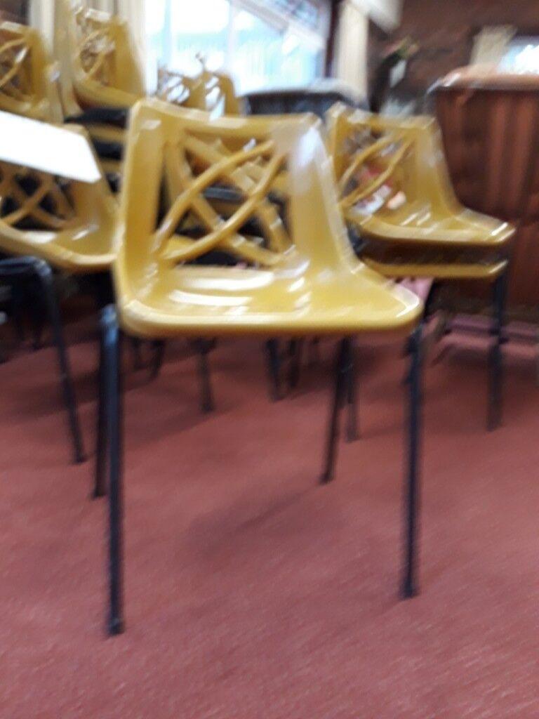 40 Gold Plastic Stackable Chairs In Dibden Purlieu Hampshire Gumtree
