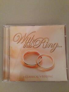 'With This Ring' Wedding CD - Used Once - Perfect Condition