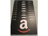 £100 Amazon gift cards
