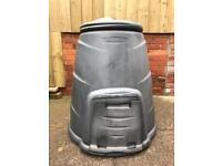 Round used compost bin