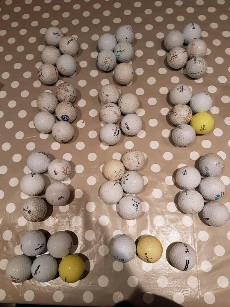 53 assorted practice balls