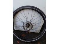 Front wheel and tyre for bike. 26 x 1.50 tyre