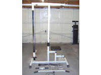 Lat Pull Down/Row Workout Machine With Attachments