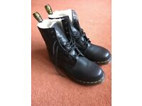 Dr Martens 8-hole fur-lined Air Wair boots. UK size 9 - worn once, as new condition