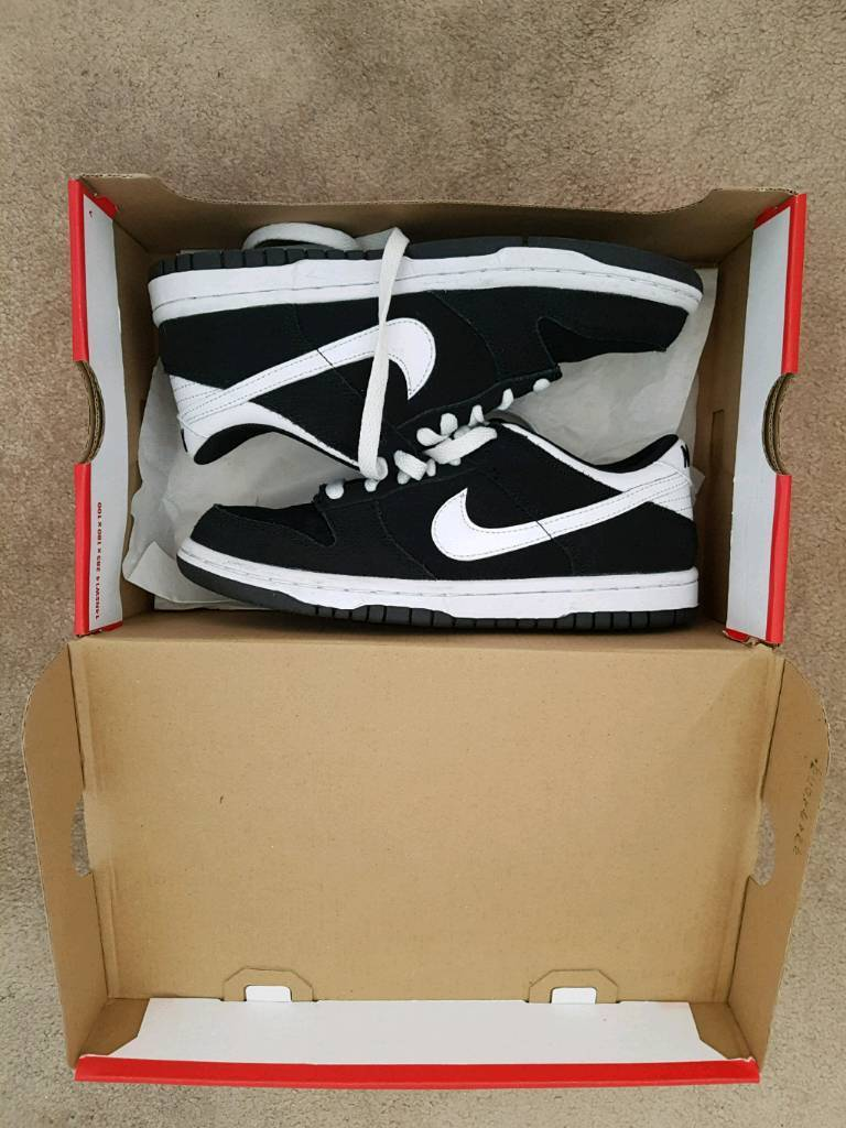 low priced 9f91a 7c2dd Brand New Boxed Boys JD Sports Nike Dunk Low Black And White Trainers Size  3.5 | in Bournemouth, Dorset | Gumtree