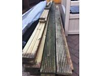 Wooden decking boards (used) 4mts / 3mts x 35mm