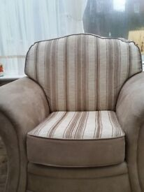 Two immaculate armchairs in faux snakeskin